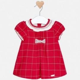 Mayoral 2854-15 Dívčí šaty kostkovaná červená