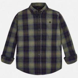 Mayoral 7138-46 Chlapecká košile kostkovaná barva béžová