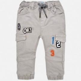 Mayoral 2572-91 Kalhoty pro chlapce s patche šedá