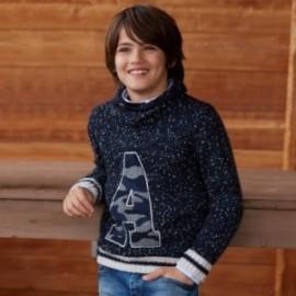 Mayoral 7304-90 Chlapec je svetr s límcem šálu granát
