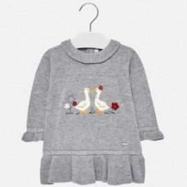Mayoral 2908-43 Stříbrné šaty pro dívky