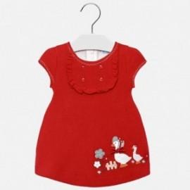 Mayoral 2910-25 Pletené červené šaty pro dívky