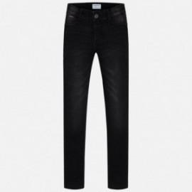 Mayoral 80-18 Dívčí dlouhé kalhoty černé džíny
