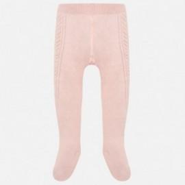 Mayoral 10454-77 Punčocháče pro dívky s volánky růžový