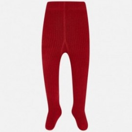 Mayoral 10453-73 Punčochy žebrované dívčí červeně