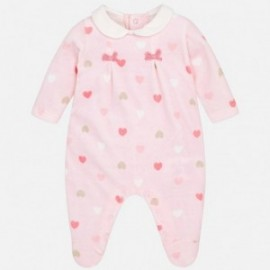 Mayoral 2762-20 Dívčí pyžama v srdcích růžový