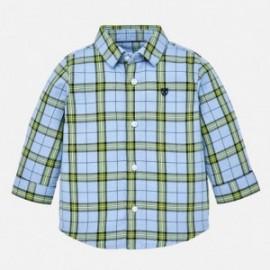 Mayoral 2132-33 Chlapec je kostkovaná košile s dlouhými rukávy modrá