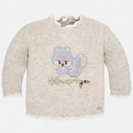 Mayoral 2334-65 Dívčí svetr s veverkou béžová/hnědá