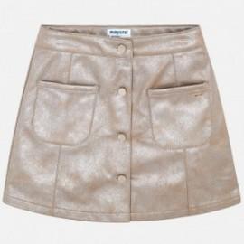 Mayoral 7910-36 Kožená sukně dívčí béžová