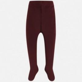 Mayoral 10491-50 Dívčí burgundské punčochové kalhoty