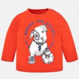 Mayoral 2040-60 Tričko pro chlapce s dlouhými rukávy červené