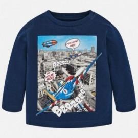 Mayoral 2036-45 Pánské tričko s dlouhými rukávy granát