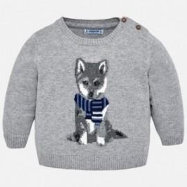 Mayoral 2326-83 Dětský svetr se psem šedá