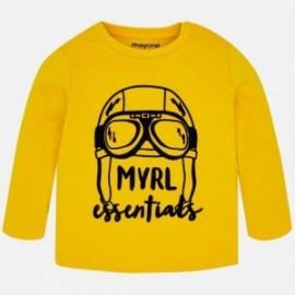 Mayoral 108-14 Pánské tričko s dlouhými rukávy, žluté