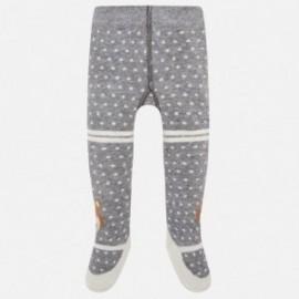 Mayoral 10455-45 Dětské žakárové punčochové kalhoty se šedými tečkami
