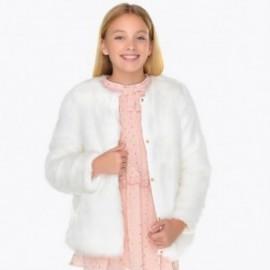 Mayoral 7476-62 kabát kožešina dívčí krém