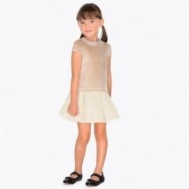 Mayoral 4940-75 Dívčí šaty hnědá barva