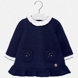 Mayoral 2940-18 Dívčí šaty s volánky tmavě modrá