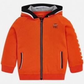 Mayoral 4419-77 Mikina s potiskem kapuce chlapci oranžový