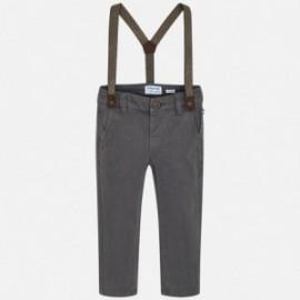 Mayoral 4518-81 Kalhoty chlapců se šlemi šedá