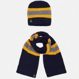 Mayoral 10483-66 Zimní sada chlapců klobouk šátek
