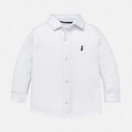 Mayoral 2134-11 košile bavlna s límcem chlapci bílá
