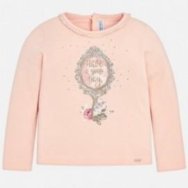 Mayoral 4046-58 Tričko s dívčím potiskem prášková růžová