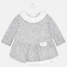 Mayoral 2836-42 Pletené šaty s kapelou holčičí šedá