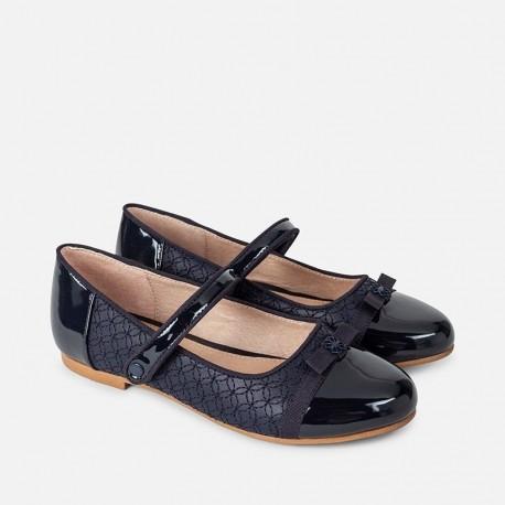 Mayoral 48813-89 Dívčí obuv baletky granát