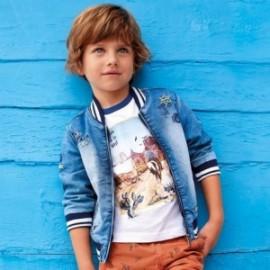 Mayoral 3425-5 Přechodová bunda chlapci džíny modré
