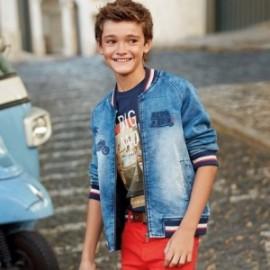 Mayoral 6422-5 Přechodová bunda chlapci džíny modré
