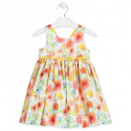 LOSAN Dívčí šaty v kiaty žlutá 916-7783AA-011