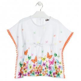 Losan halenka pro dívku motýla bílá, 916-1021AA-001