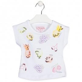 Losan Tričko na popruhy dívčí bílá 916-1031AA-001