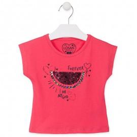 Losan Tričko na popruzích dívčí červená 916-1009AA-075