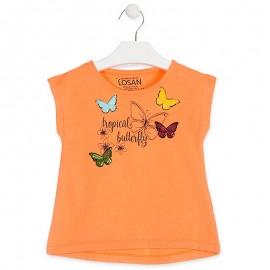 Losan Tričko na popruhy dívčí oranžové 916-1020AA-621