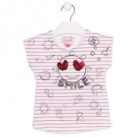 Losan Tričko na popruhy dívčí bílá 916-1007AA-001