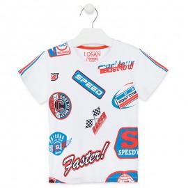 Losan Sportovní tričko pro chlapce bílé 915-1031AA-001