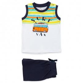 Losan Set pro chlapecké tričko a bermudy bílé 917-8046AA-001