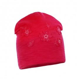 Pupill Dívčí červený přechodový klobouk ARIA
