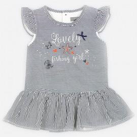 Losan šaty pro dívky v tmavě modré pruhy 918-7017AA-378