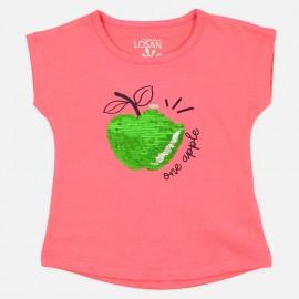Losan Tričko pro dívky červené 916-1211AA-059