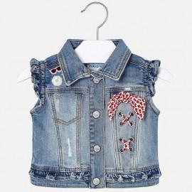 Mayoral 3304-23 Jeansová bunda dívčí barva granátu
