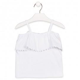 Losan Dívčí tričko na popruzích bílá 916-1014AA-642