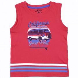 Losan tričko chlapecké ramenní popruhy červené 915-1211AA-575