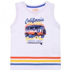 Losan Chlapecké tričko na ramenních popruzích bílá 915-1211AA-001