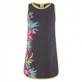 Dívčí šaty s popruhy šedé Tuc Tuc 49823-9