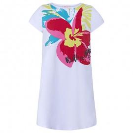 Dívčí šaty s rukávem bílá Tuc Tuc 49824-5