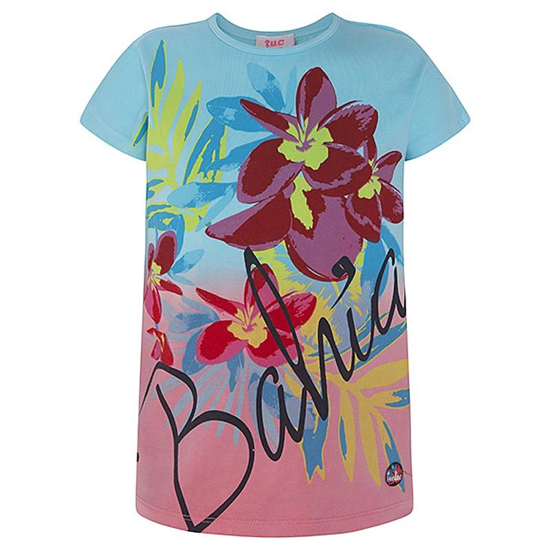 Dívčí tričko s rukávem tyrkysové Tuc Tuc 49816-1