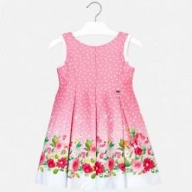 Mayoral 3932-15 Šaty pro dívku v růžové puntičce